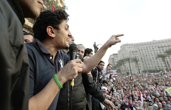 Google's Wael Ghonim in Tahrir Square